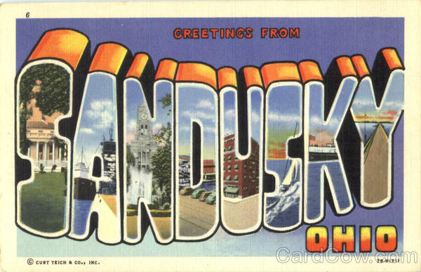 Greetings From Sandusky Ohio Large Letter