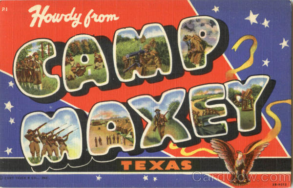 Howdy From Camp Maxey Texas Large Letter