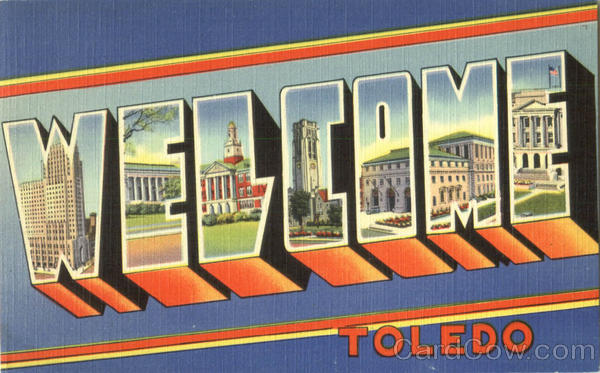 Welcome Toledo Ohio Large Letter