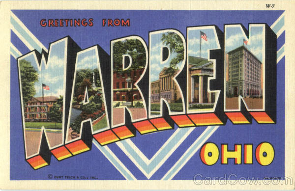 Greetings From Warren Ohio Large Letter