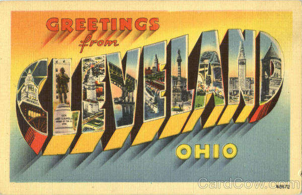 Greetings From Cleveland Ohio Large Letter