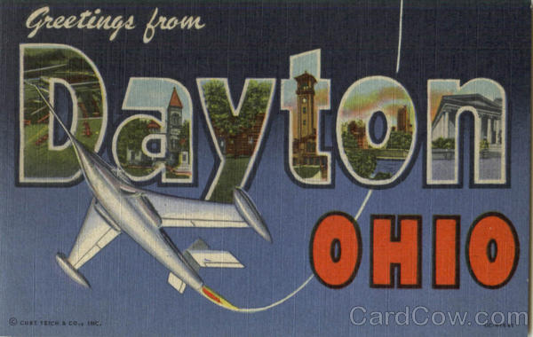 Greetings From Dayton Ohio Large Letter
