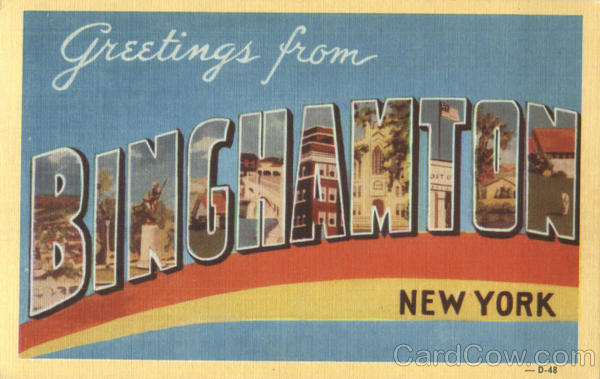 Greetings From Binghamton New York Large Letter