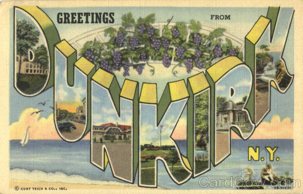 Greetings From Dunkirk New York Large Letter
