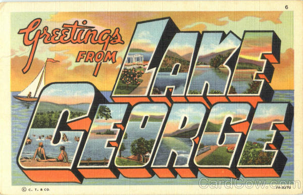 Greetings From Lake George New York Large Letter