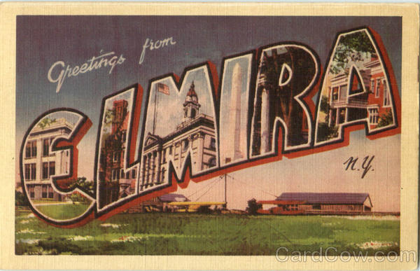 Greetings From Elmira New York Large Letter