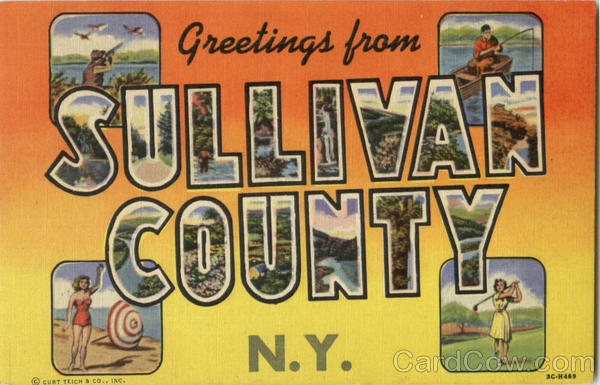 Greetings From Sullivan County New York Large Letter
