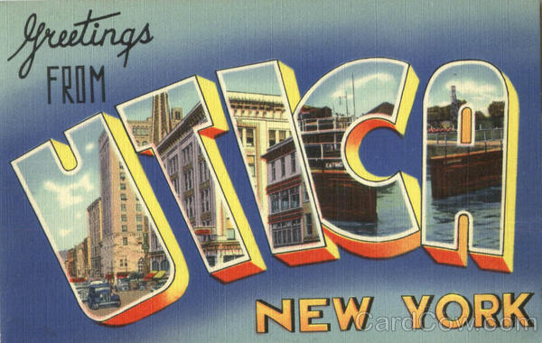 Greetings From Utica New York Large Letter