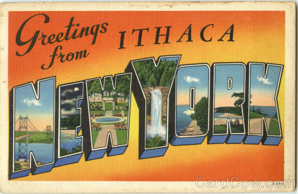 Greetings From Ithaca New York Large Letter