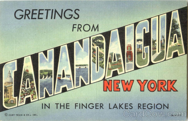 Greetings From Canandaigua New York Large Letter