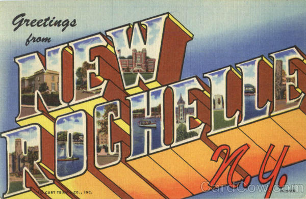 Greetings From New Rochelle New York Large Letter
