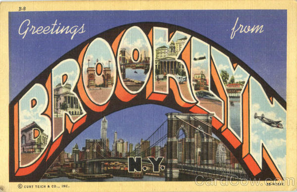 Greetings From Brooklyn New York Large Letter