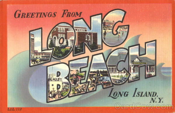 Greetings From Long Beach Long Island New York Large Letter