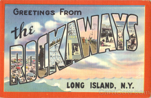 Greetings From The Rockways Long Island New York Large Letter