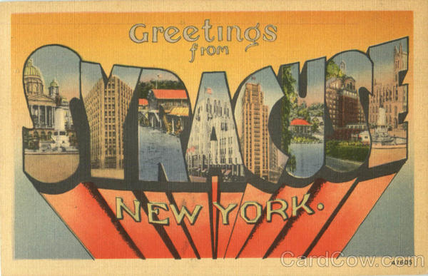 Greetings From Syracuse New York Large Letter