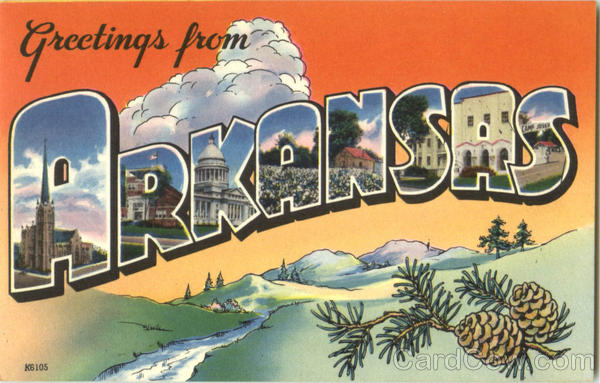 Greetings From Arkansas Large Letter