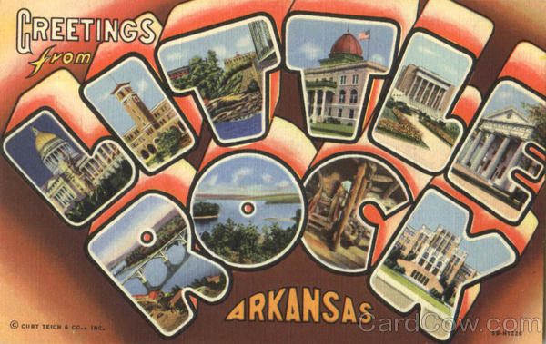 Greetings From Little Rock Arkansas Large Letter