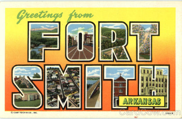 Greetings From Fort Smith Arkansas Large Letter