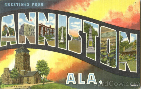 Greetings From Anniston Alabama Large Letter