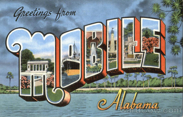 Greetings From Mobile Alabama Large Letter