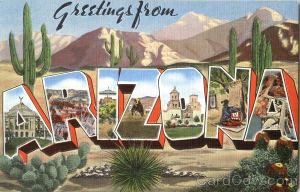 Greetings From Arizona Large Letter