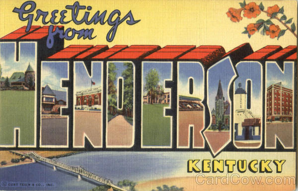 Greetings From Henderson Kentucky Large Letter