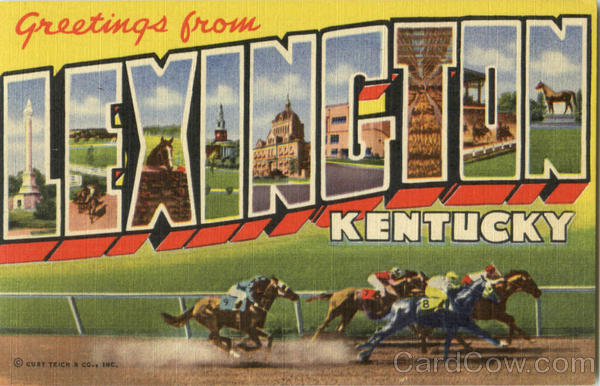 Greetings From Lexington Kentucky Large Letter