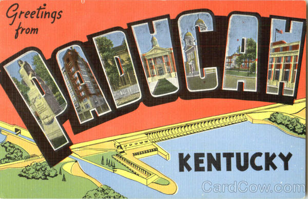 Greetings From Paducah Kentucky Large Letter