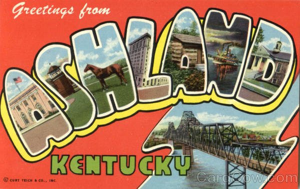 Greetings From Ashland Kentucky Large Letter
