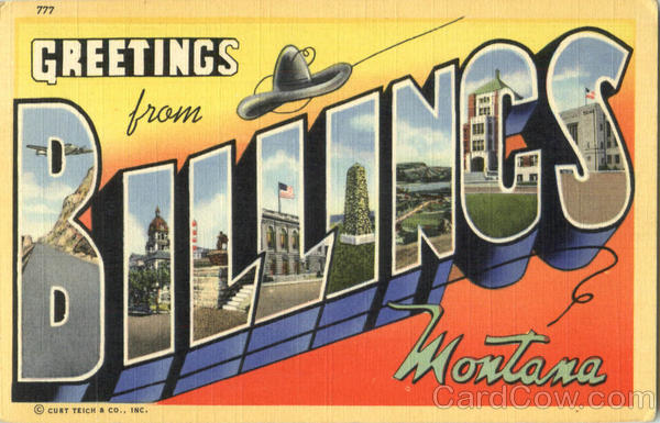 Greetings From Billings Montana Large Letter