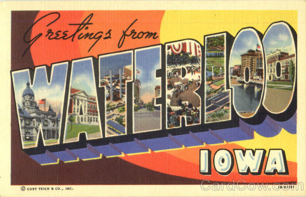 Greetings From Waterloo Iowa Large Letter
