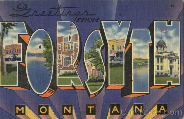 Greetings From Forsyth Montana Large Letter