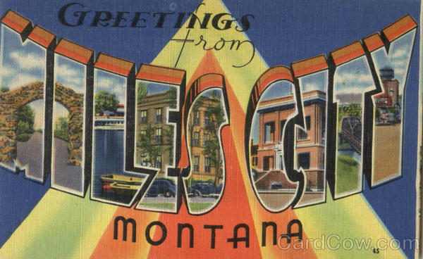 Greetings From Miles City Montana Large Letter