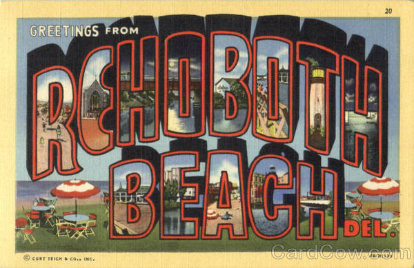 Greetings From Rehoboth Beach Delaware Large Letter