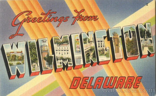 Greetings From Wilmington Delaware Large Letter