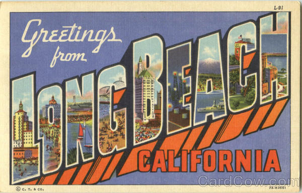 Greetings From Long Beach California Large Letter