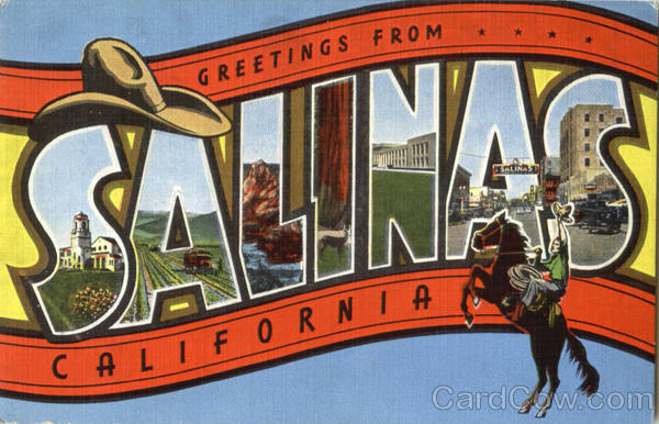 Greetings From Salinas California Large Letter