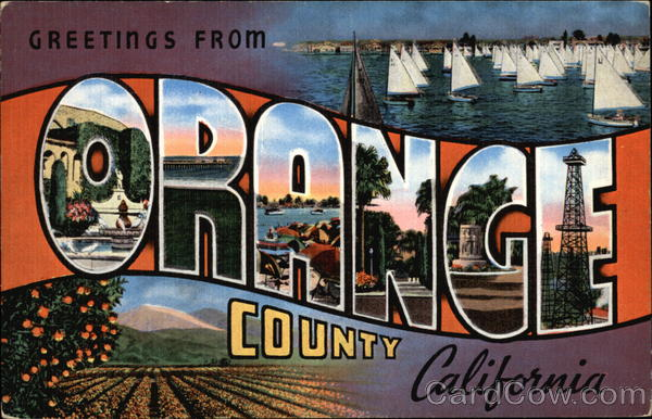 Greetings From Orange County California Large Letter