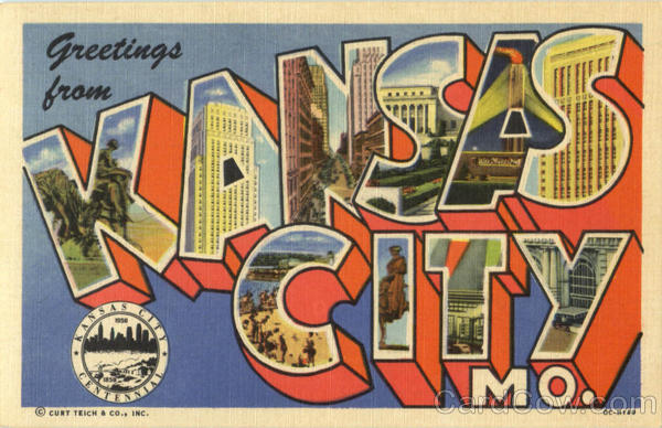 Greetings From Kansas City Missouri Large Letter