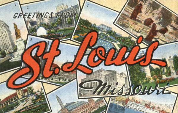 Greetings From St. Louis Missouri Large Letter
