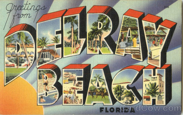 Greetings From Delray Beach Florida Large Letter