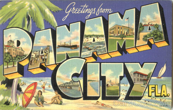Greetings From Panama City Florida Large Letter