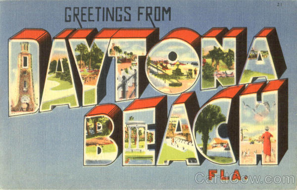 Greetings From Daytona Beach Florida Large Letter