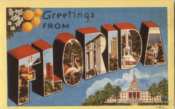 Greetings From Florida Large Letter