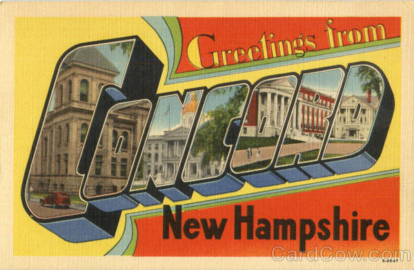 Greetings From Concord New Hampshire Large Letter