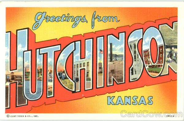 Greetings From Hutchinson Kansas Large Letter