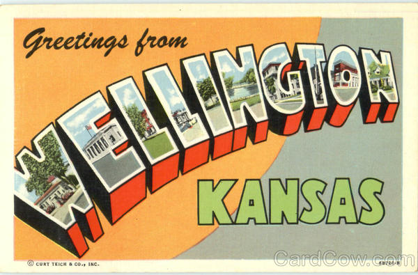 Greetings From Wellington Kansas Large Letter
