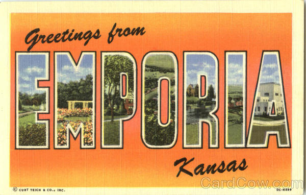 Greetings From Emporia Kansas Large Letter