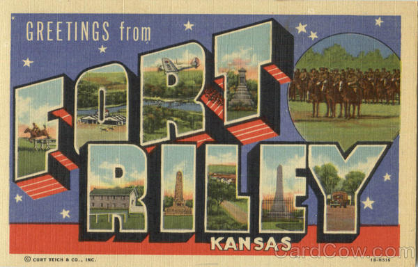 Greetings From Fort Riley Kansas Large Letter