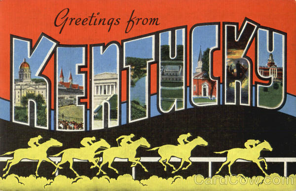 Greetings From Kentucky Large Letter